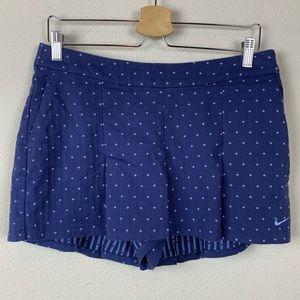 Nike Golf Pleated Blue Polka Dot Skort  Skirt